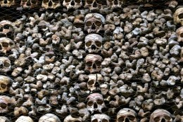 Creepy or cool? Milan's 'bone church' is lined with human skulls