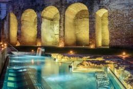 QC Terme: A spa with a tram sauna & ancient Spanish walls
