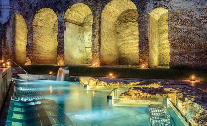QC Terme: A spa with a tram sauna & ancient Spanish walls